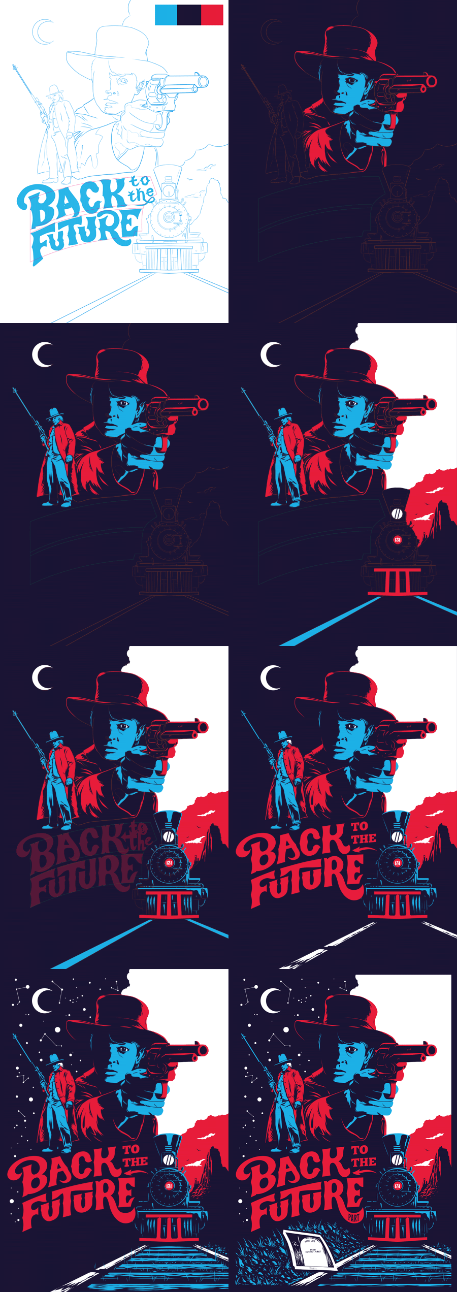 gigawatts back to the future iii poster on behance. Black Bedroom Furniture Sets. Home Design Ideas
