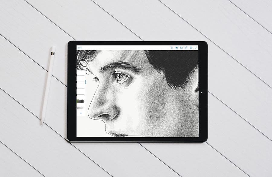 Netflix bandersnatch black mirror sketch portrait iPad Pro Art stefan butler fionn whitehead Drawing  adobe drawing