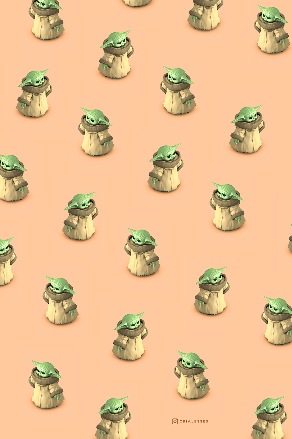 Baby Yoda Wallpaper on Behance
