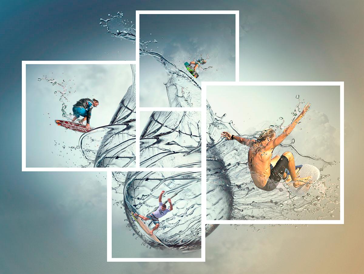 #Drop of Surfing #surf #drop #goccia #digitalart #compositing #illustration #graficapubblicitaria #graphicdesigner #art #graphic #sea #adobe #photoshop