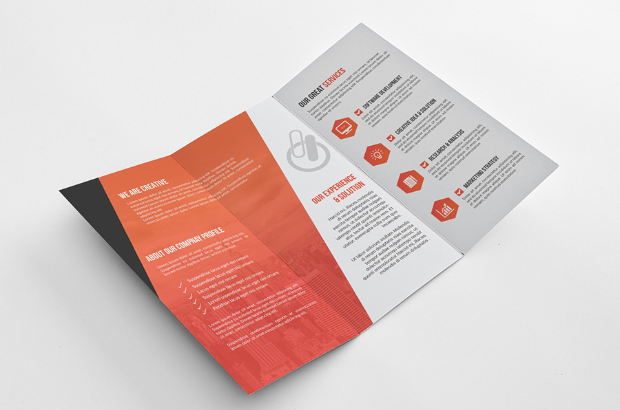 bi fold brochure template illustrator - bi fold tri fold brochure template on behance