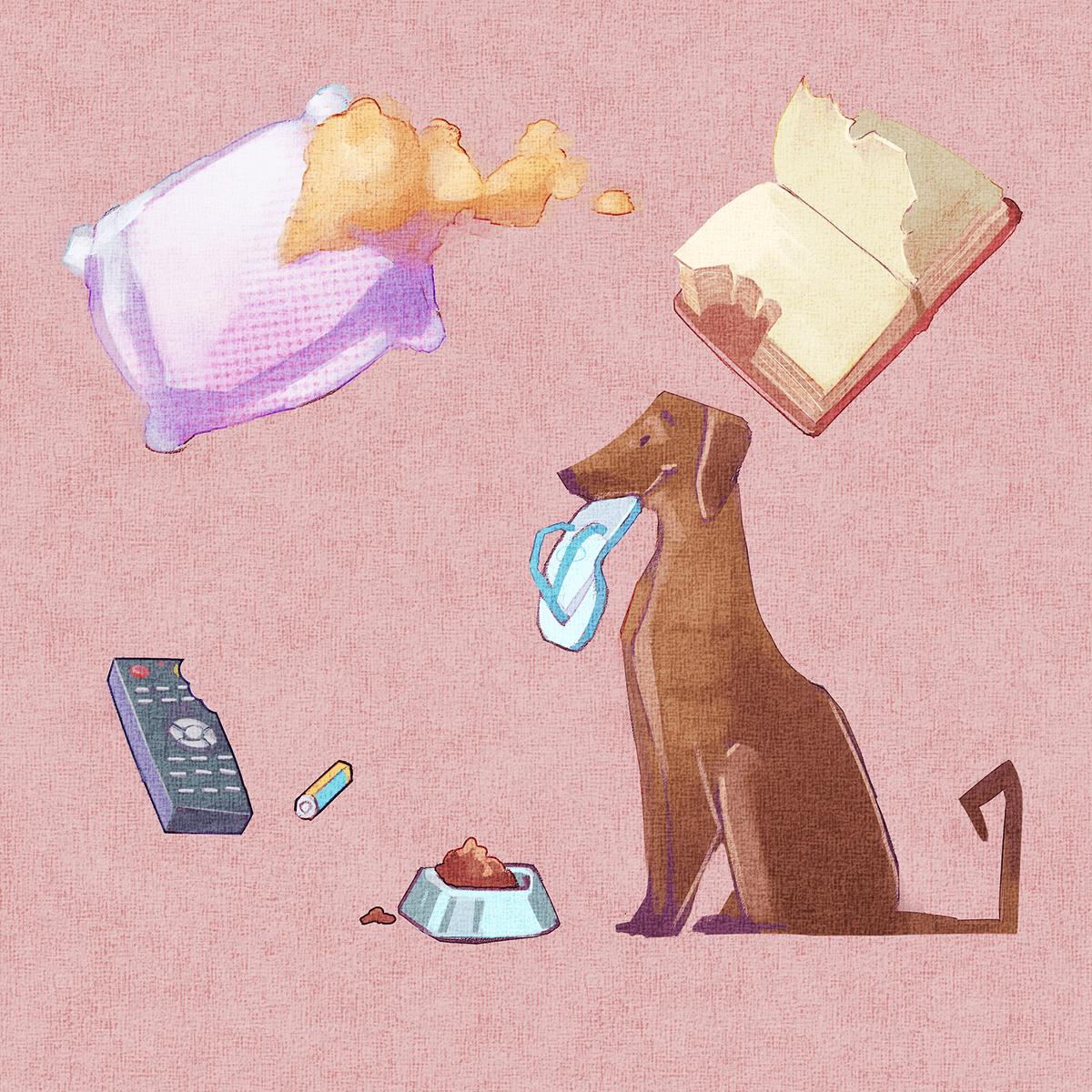 Image may contain: cartoon, dog and animal