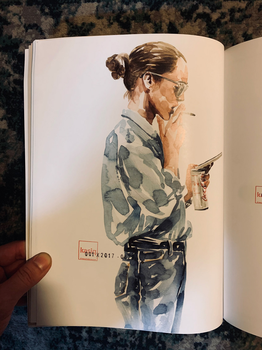 ILLUSTRATION  interview ISSI kasiq magazine painting   Poftfolio Style watercolor 이정우