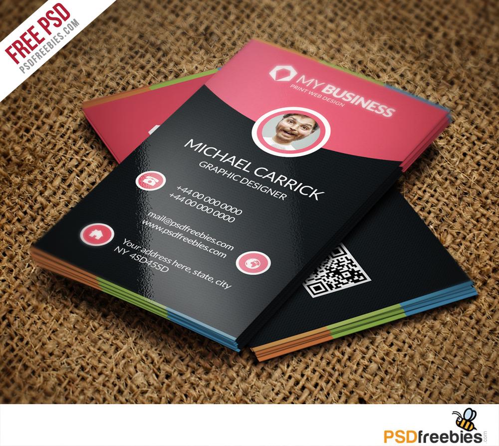 Freebie : Modern Corporate Business Card Free PSD Vol 22 on Behance Throughout Creative Business Card Templates Psd