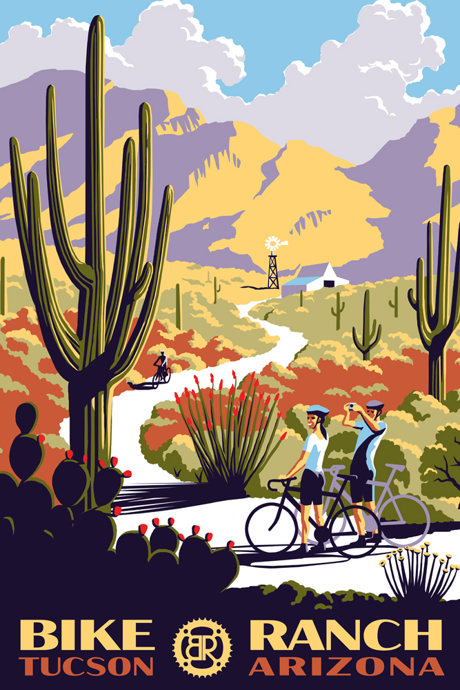 Cycling poster in 1930s style