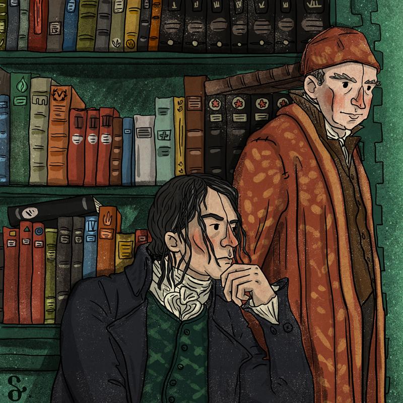 Jonathan Strange Mr. Norrell Susanna Clarke york childermass period drama 1800's literature ILLUSTRATION  illustrasyon