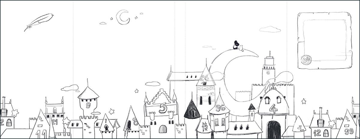 inspire AdobeSketch adobedraw AdobeLine photoshopmix moon girl children book Picture book