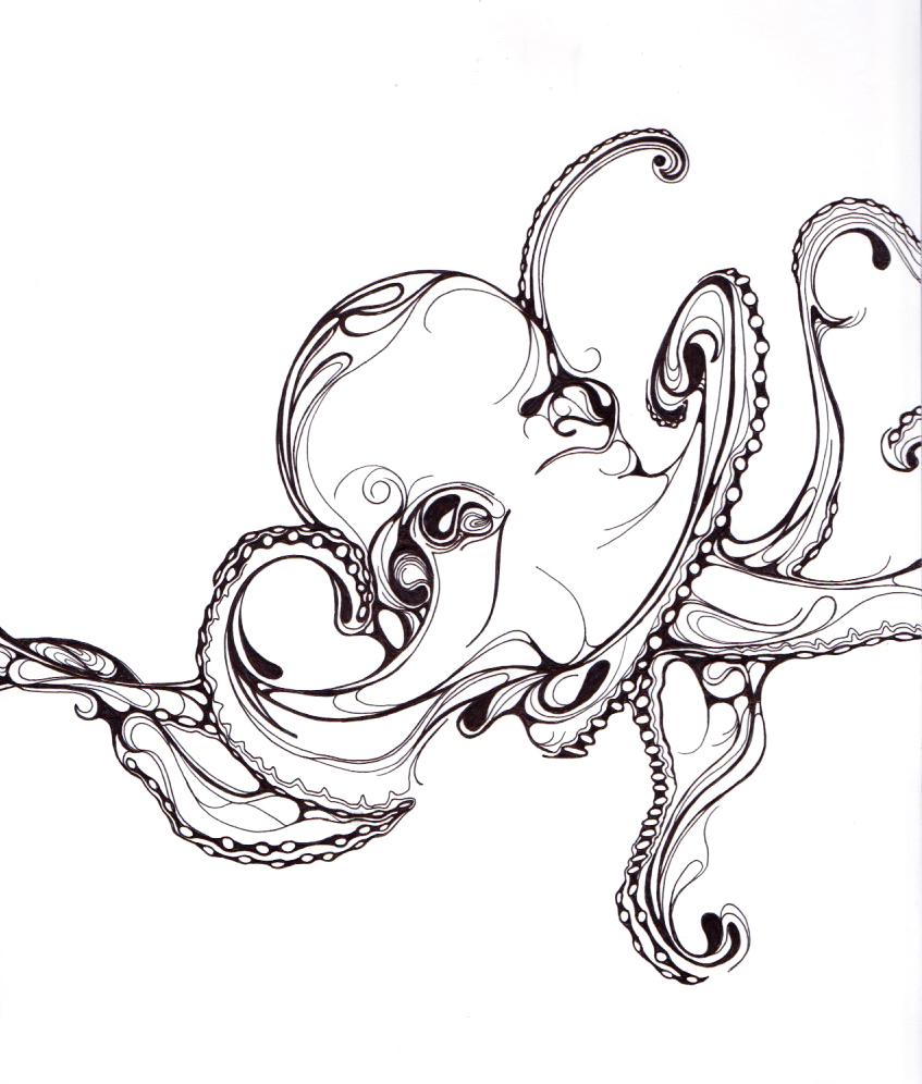 Line Art Animals Tattoo : Animal ink drawings on behance