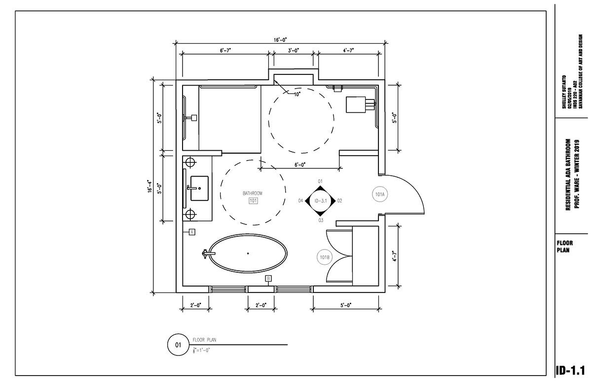 RESIDENTIAL ADA BATHROOM DETAILS on SCAD Portfolios