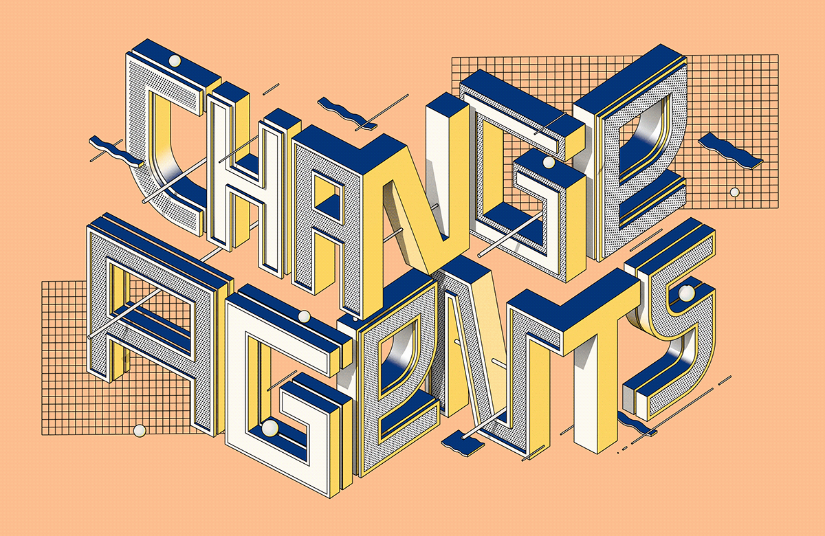 3D adobe illustrator art design digital editorial lettering type typography   vector
