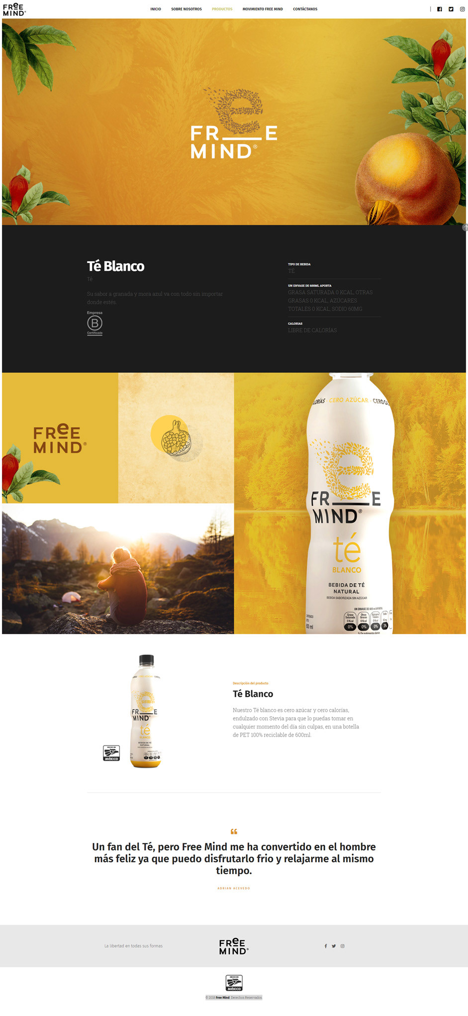 drink freemind liberate Responsive tea Website