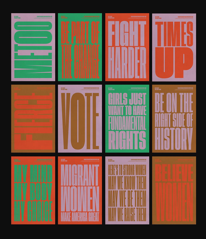 women's march Poster Design typography   Web Design  Street Art  protest