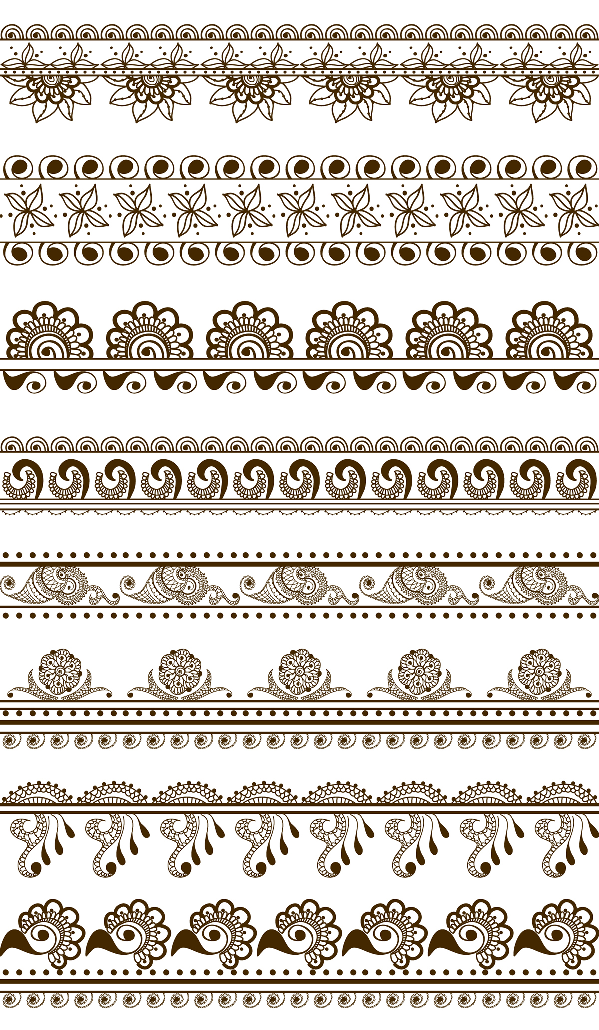 borders frames and mandalas in mehndi indian style on behance