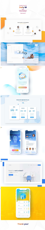 design daily UI app Website