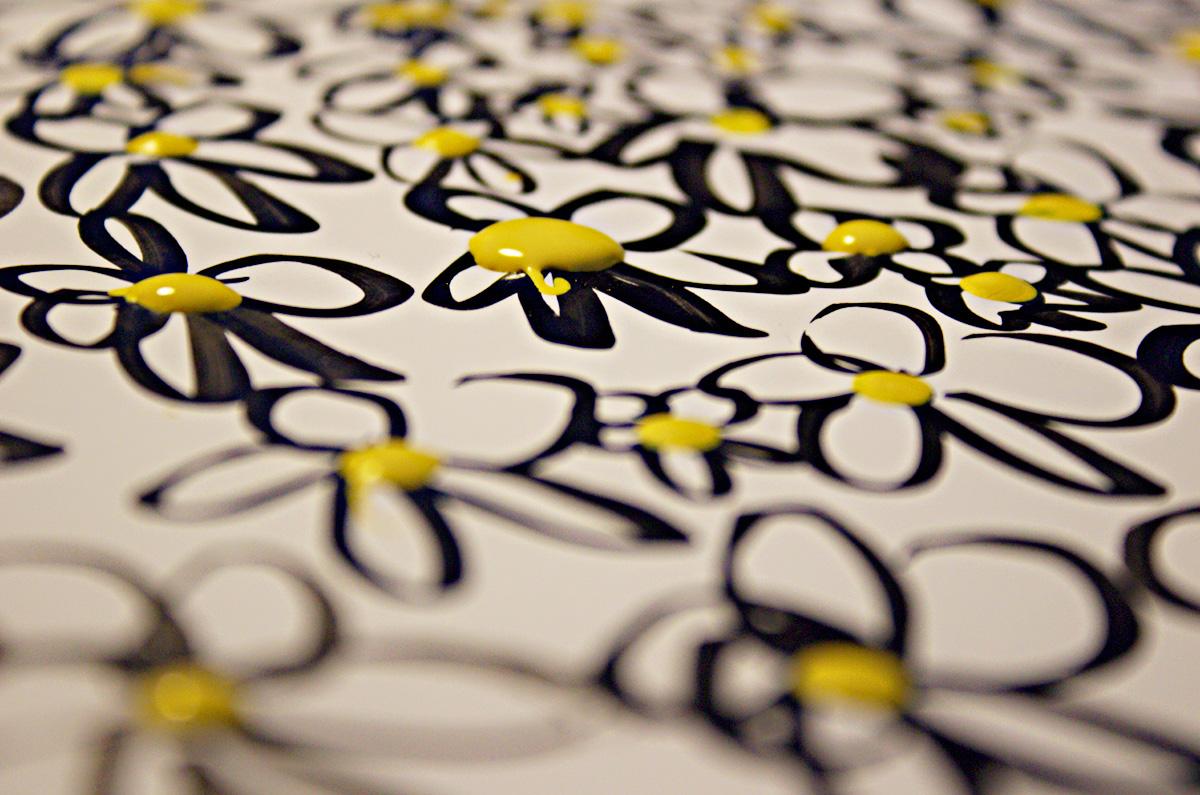 daisies pattern Flowers Exhibition  Francesco Mazzenga china
