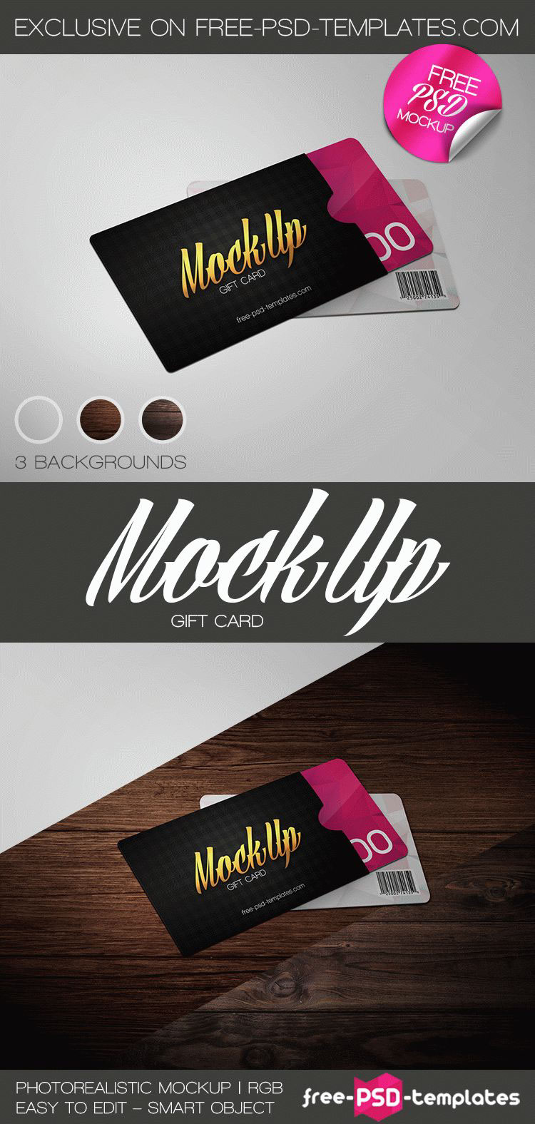 free gift card mock up in psd on behance