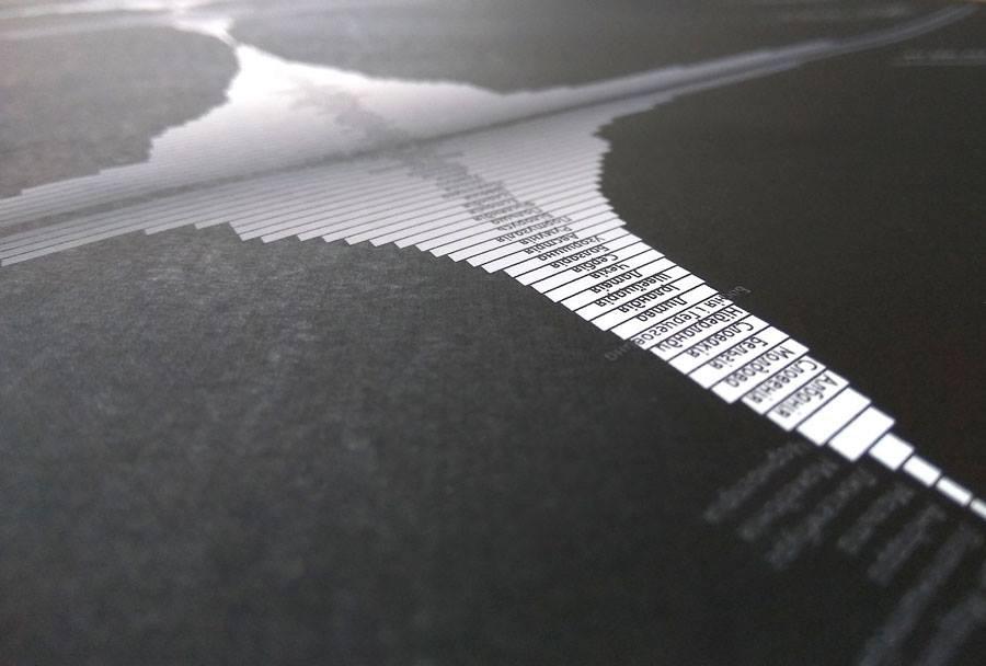poster dataart boarders Minimalism visualisation infographic Black&white data_desing Zhuk&Kelm