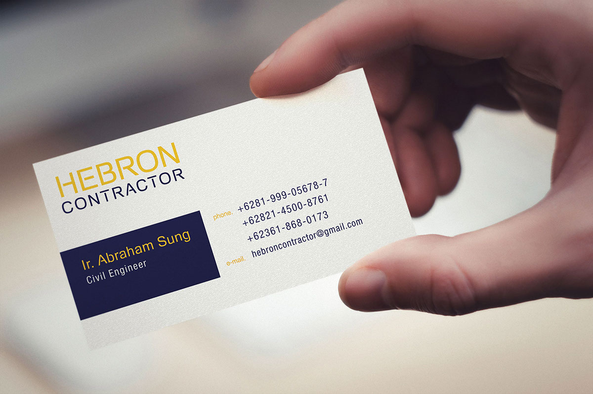 hebron contractor business card design on behance