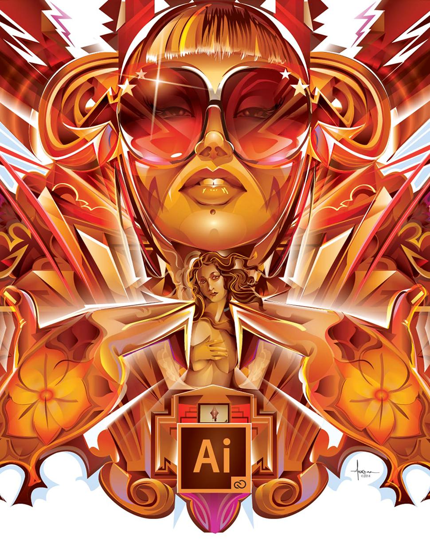 adobe ai Illustrator splash vector popdeco grafitti girl tattoo Flowers venus arrows sexy