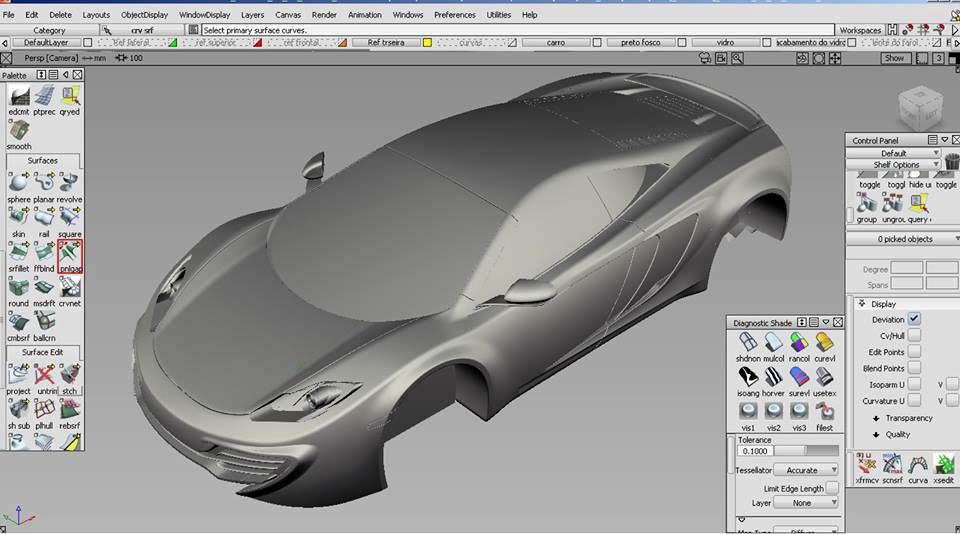 McLaren MP4-12C in Alias auto on Behance