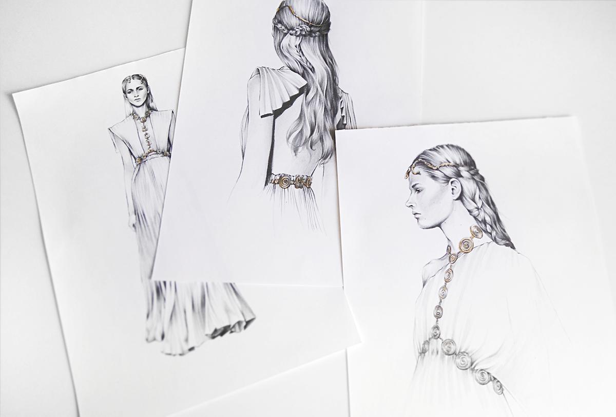 fashionillustration fashiondrawing fashionsketch art artwork artist pencildrawing hautecouture valentino runway catwalk fashionweek ewelinadymek ewelinadmk