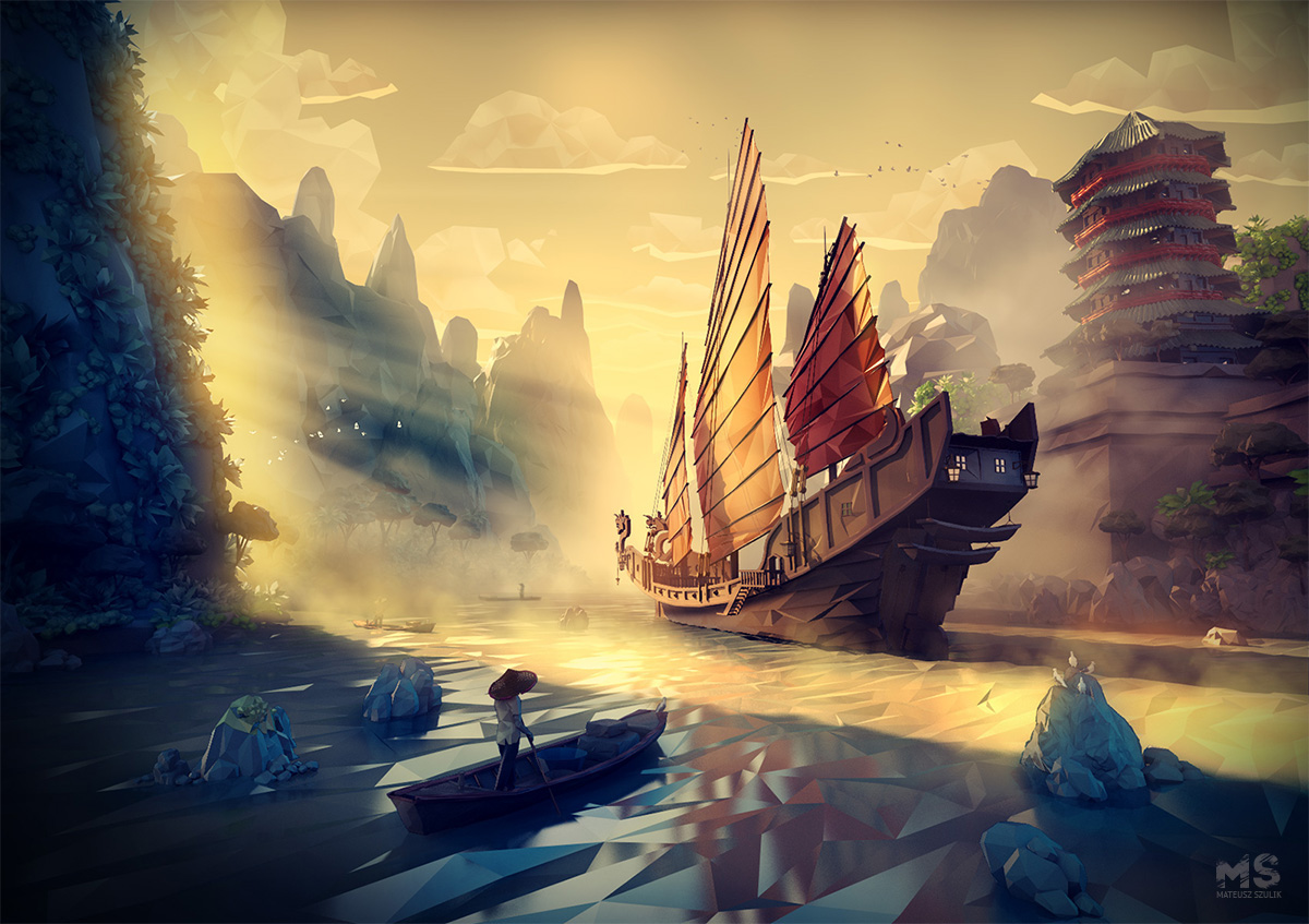 Mesmerizing Low Poly World by Mat Szulik
