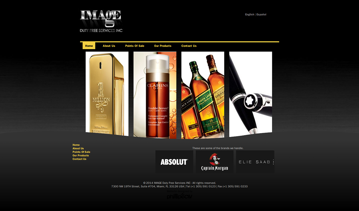 Website design for Image Duty Free Services INC
