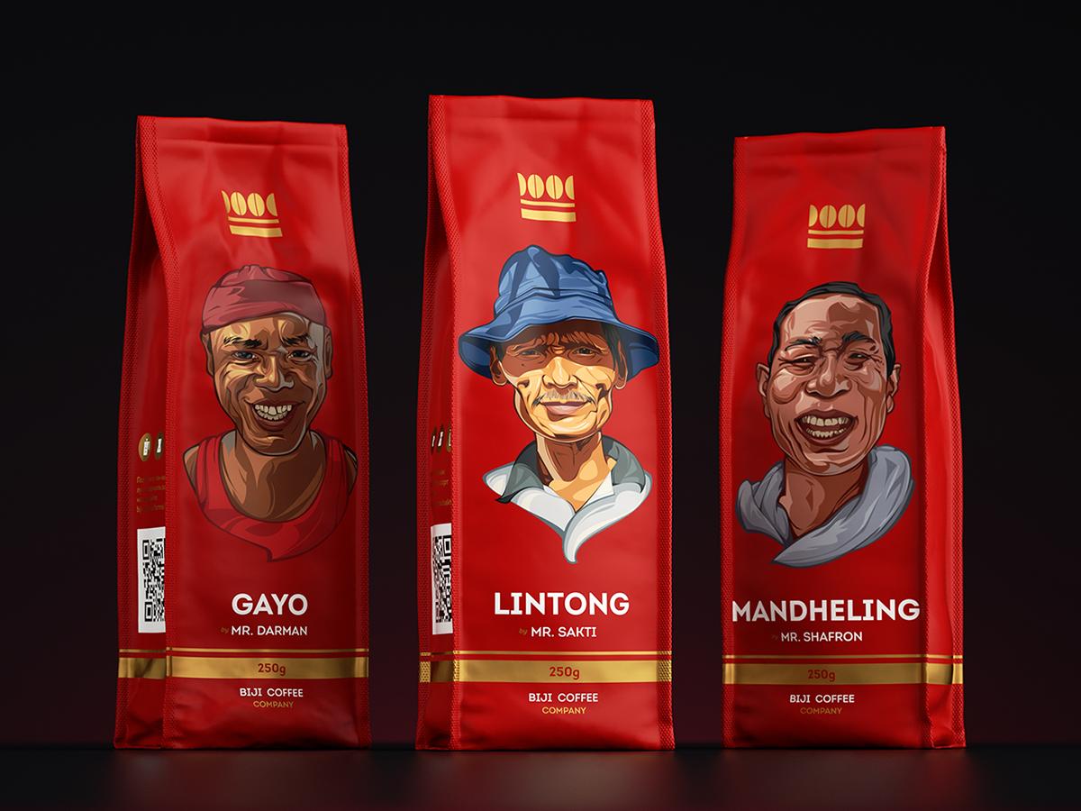 Ilustrace velkých obalů, např. na kávu.
