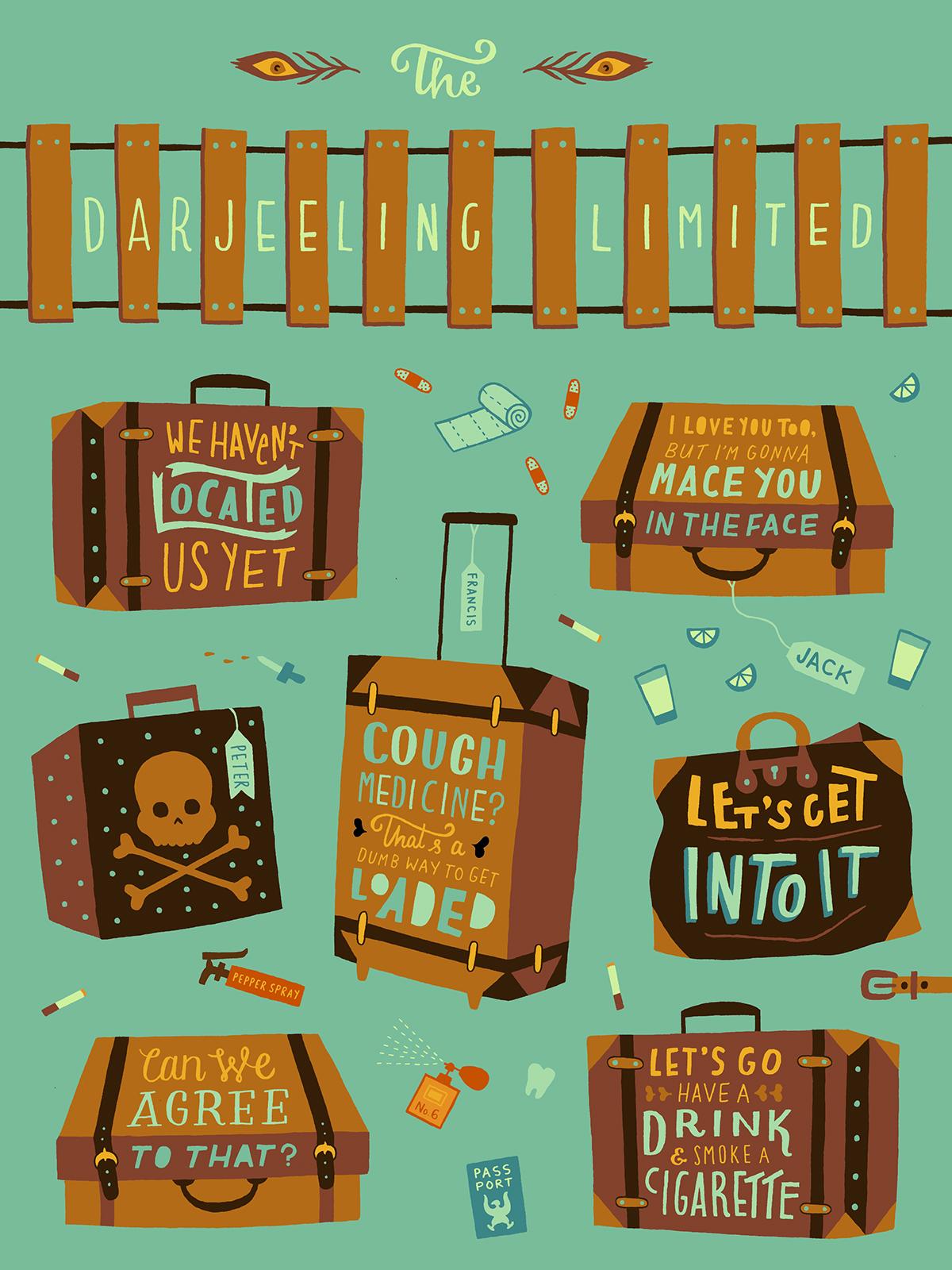 Darjeeling Limited Luggage Graphic Design