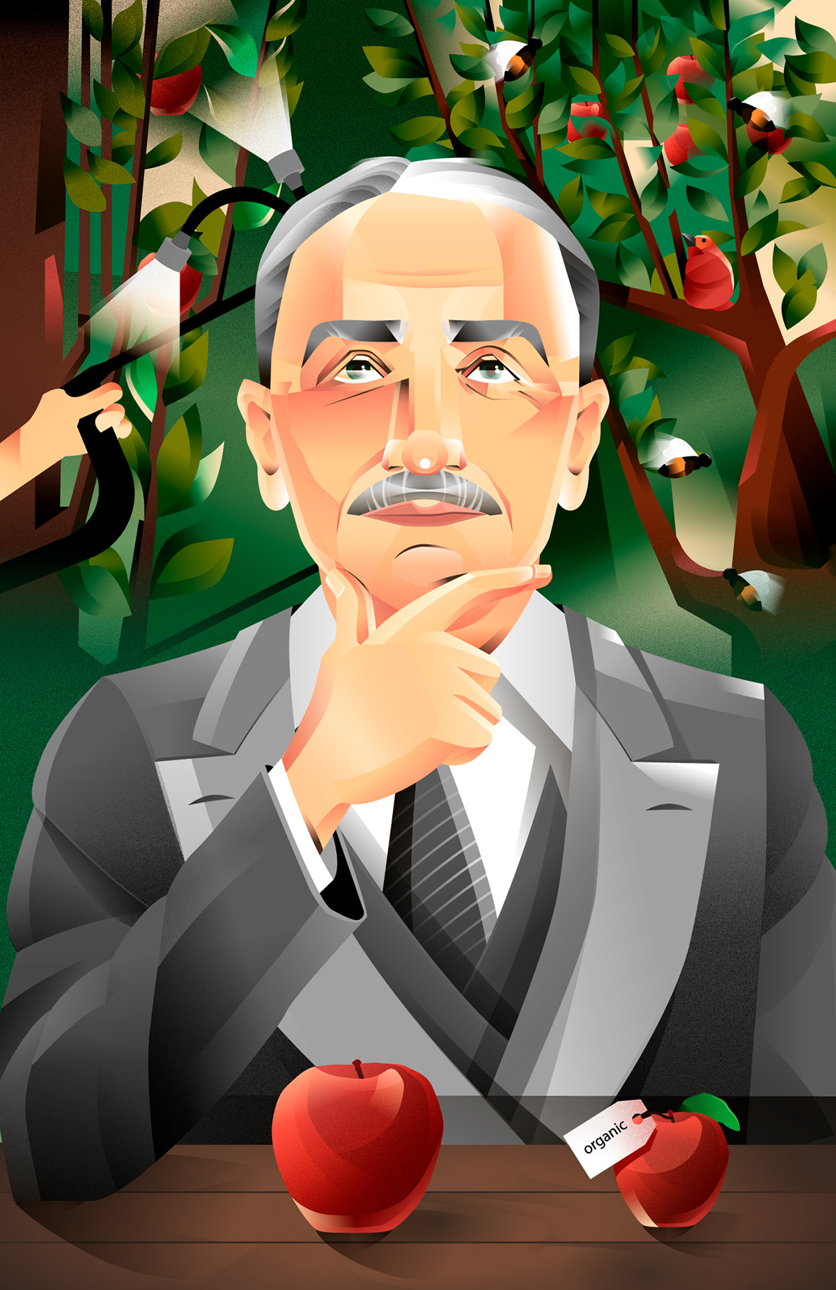 ayn rand ecomomy economist friedrich hayek Ludwig Von Mises Murray Rothbard philosophy  poster vector vintage