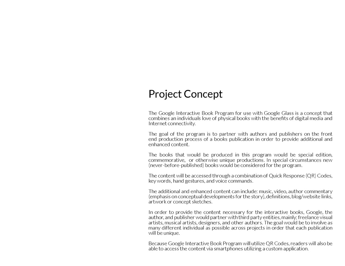 Concept Design for Google Glass Interactive Books on Pantone