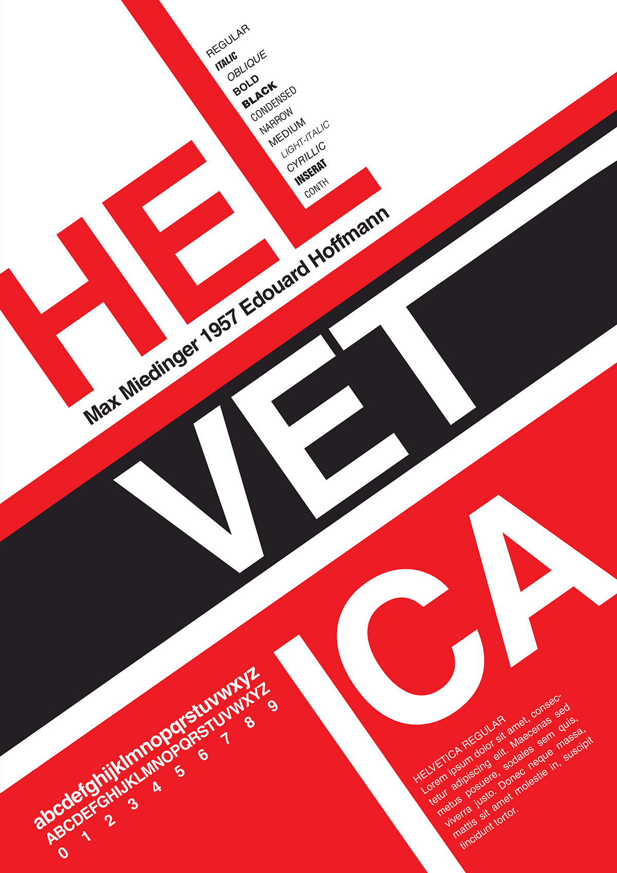 HELVETICA Typography Poster on Behance