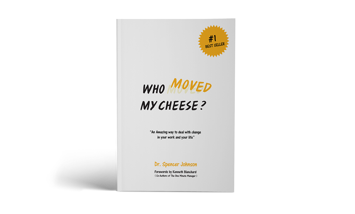 book cover book design information hierarchy Visual Hierarchy Print Media Cheese maze yellow Icon Spencer Johnson