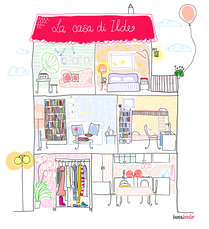 La casa di ilde disegni per il blog on behance for Disegni per la casa vittoriana