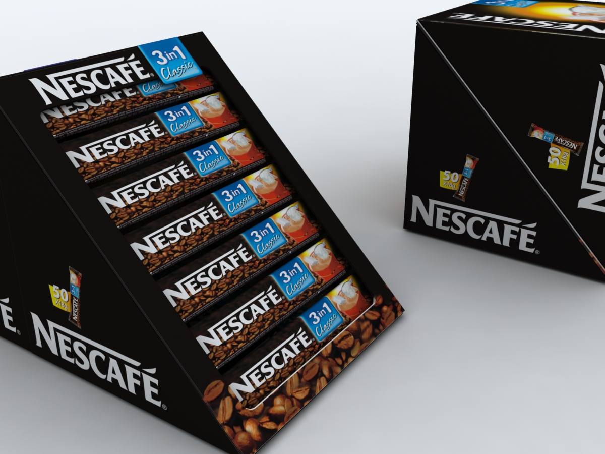 Package design for nescafe fifty piece serving box on for Küchenoutlet