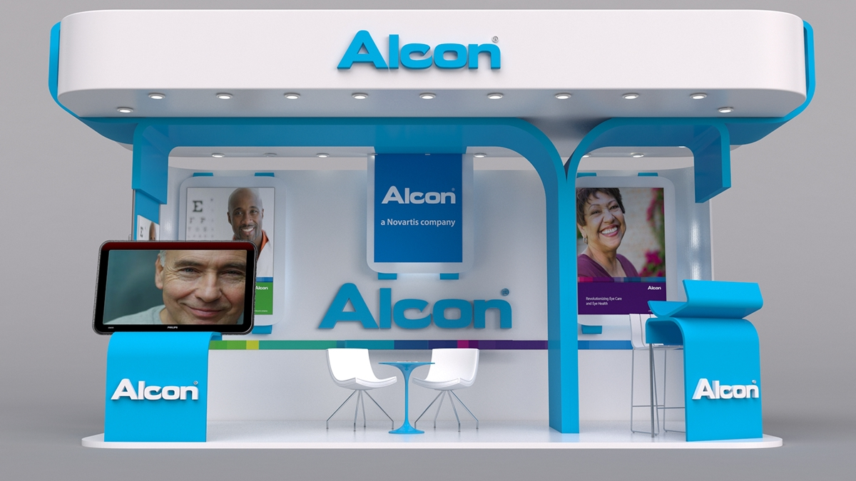 Sungard Exhibition Stand Here : Alcon booth on behance