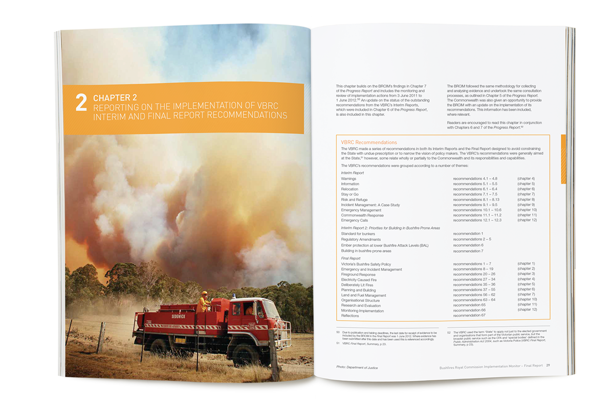 2009 Bushfires Royal Commission final report on Behance