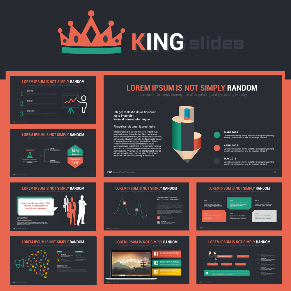 King powerpoint template on behance powerpoint templates magazine templates photo album templates toneelgroepblik Images
