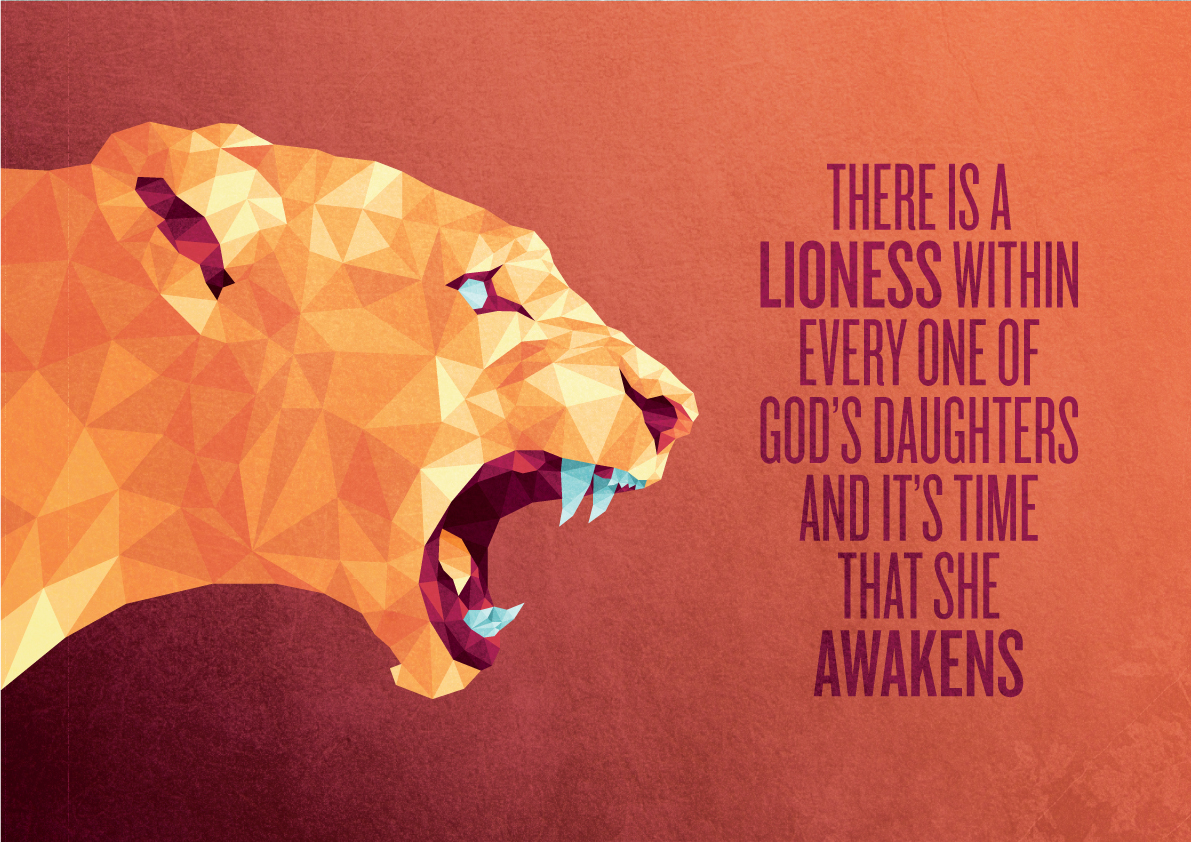 lioness lion poster geometric Low Poly triangle triangular