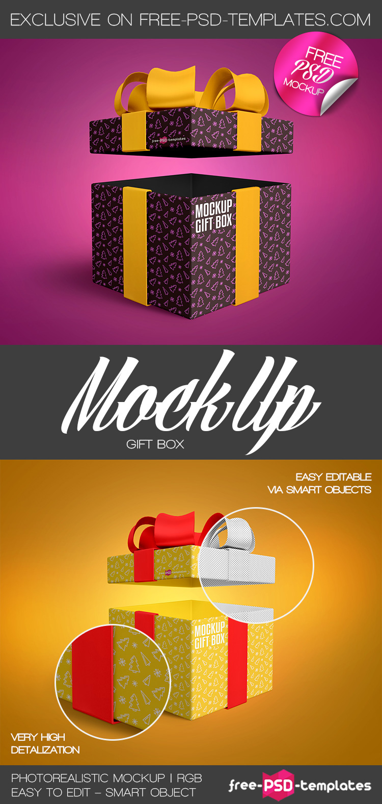 Free gift box mock up in psd on behance download free gift box mock up in psd and use it for creating presentations and implement your professional ideas into life work in photoshop to add any negle Choice Image