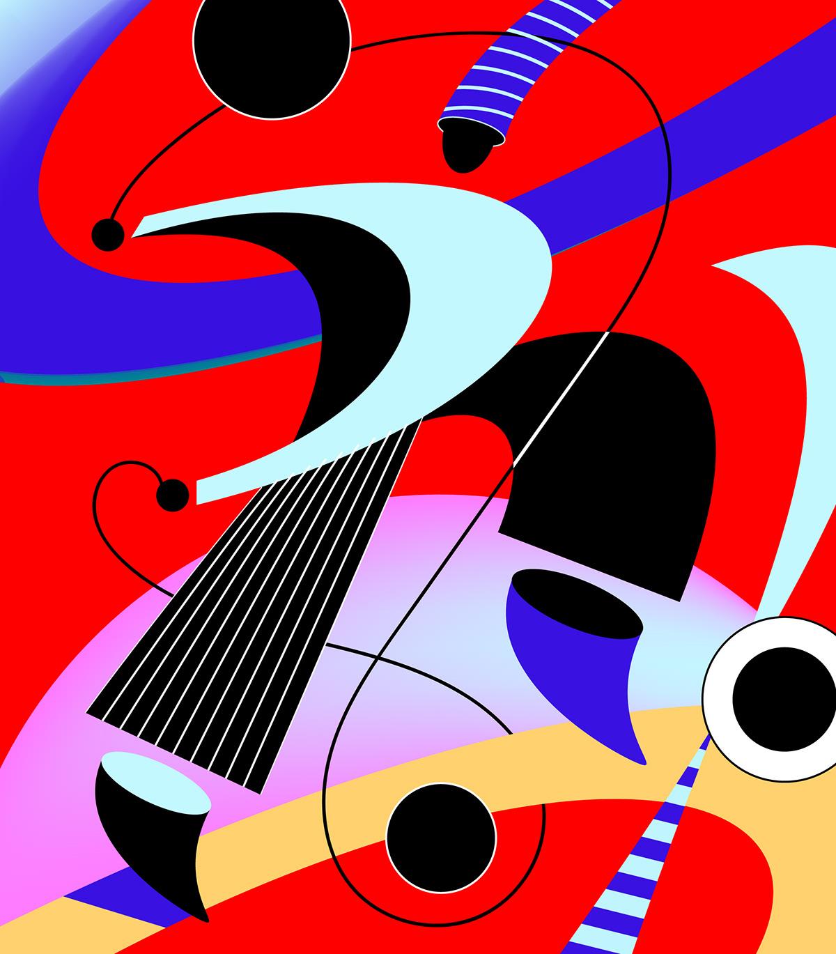 abstract art artwork Character color design flat ILLUSTRATION  minimal vector