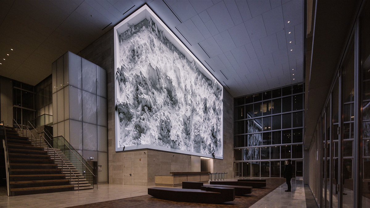 san francisco public art media arts media architecture twitter data sculpture Dynamic realtime vvvv 350 Mission