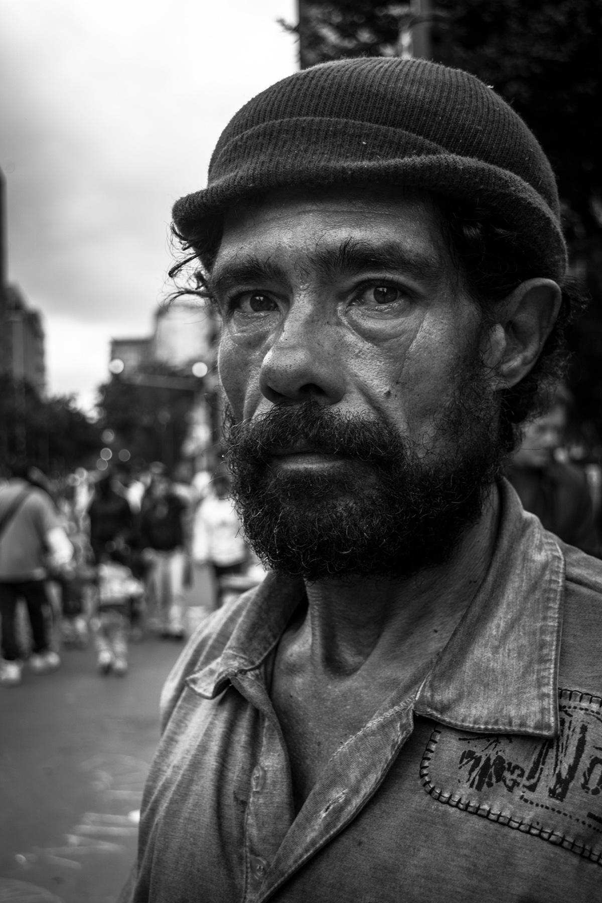 black White Street portrait color art lowkey highkey