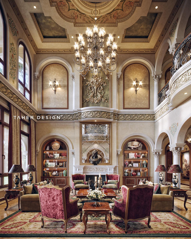 """Luxury Mansion Interior Qatar On Behance: Luxury Mansion Interior """"Dubai"""" On Behance"""