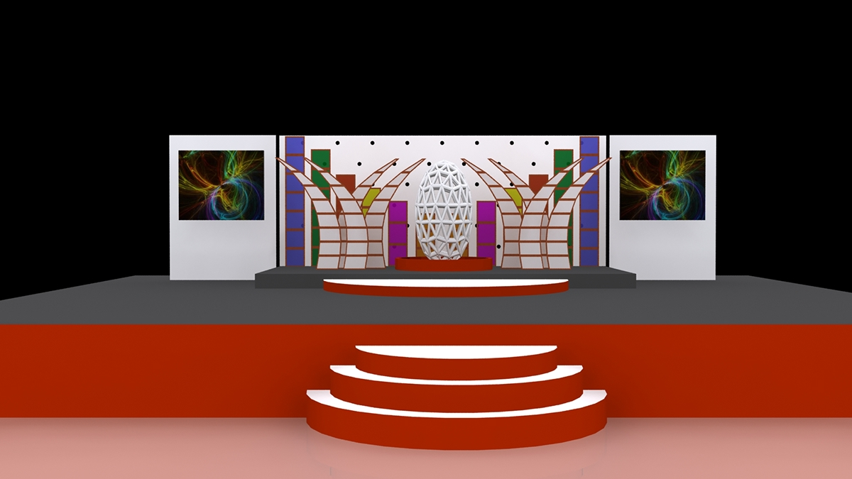 3d Modeling Stage Design On Pantone Canvas Gallery