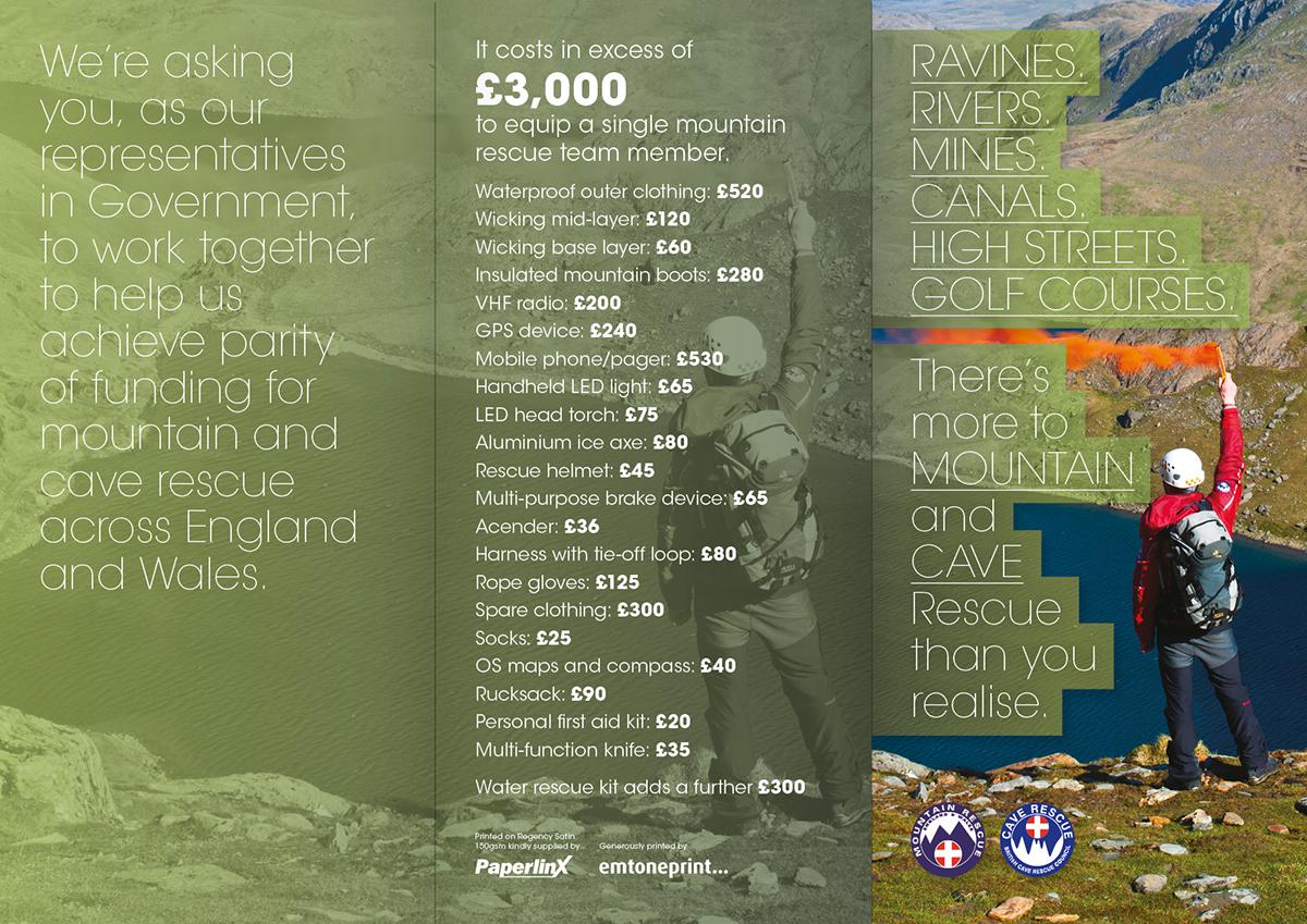 Mountain Rescue leaflet