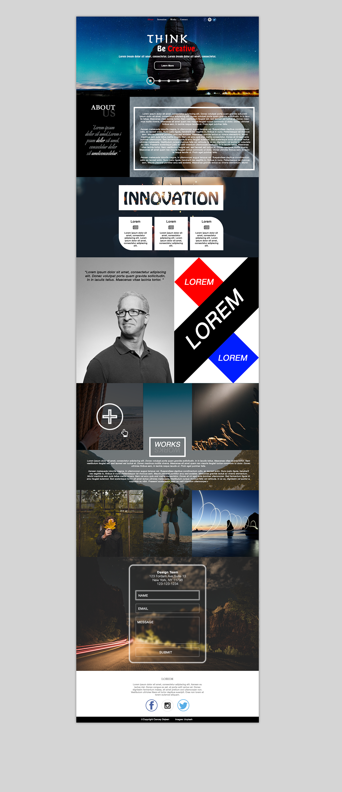 Creative Agency Website on Behance