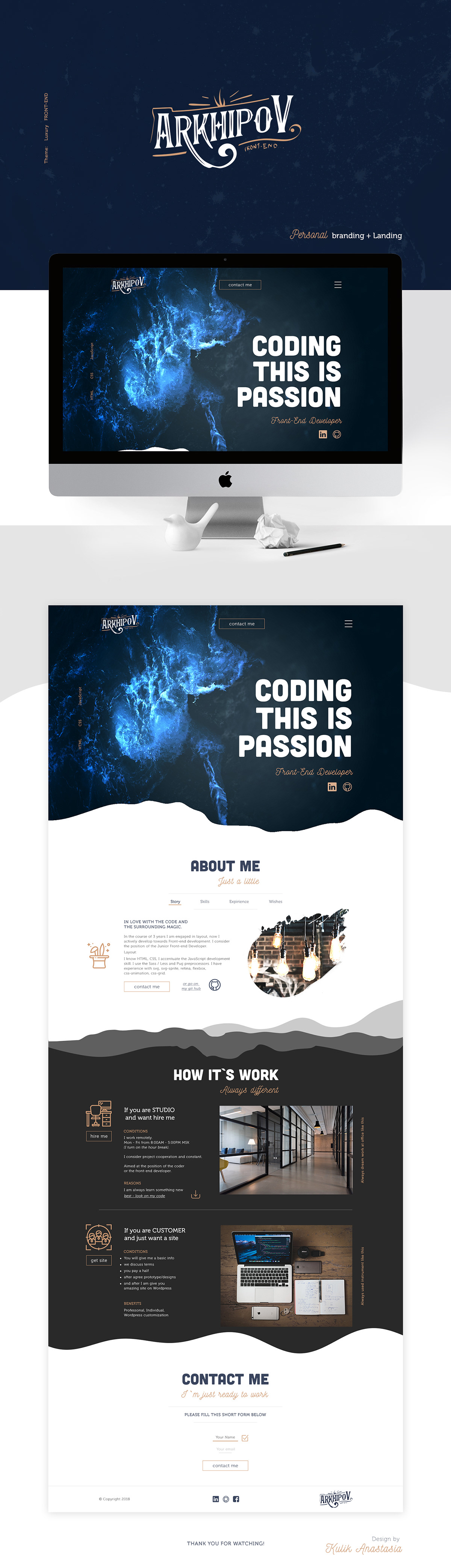 Personal branding  Front-end developer  Web  Logo  on Wacom