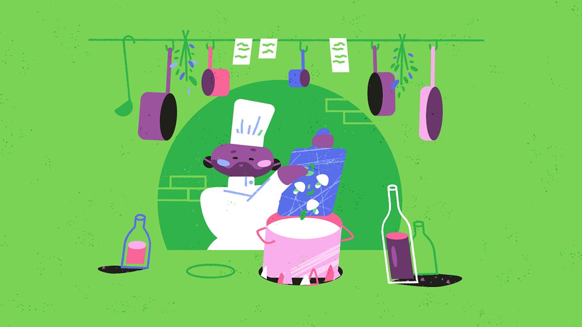 animation  environment explainer video Food  Health ILLUSTRATION  Musical Supermarket vegan veganism
