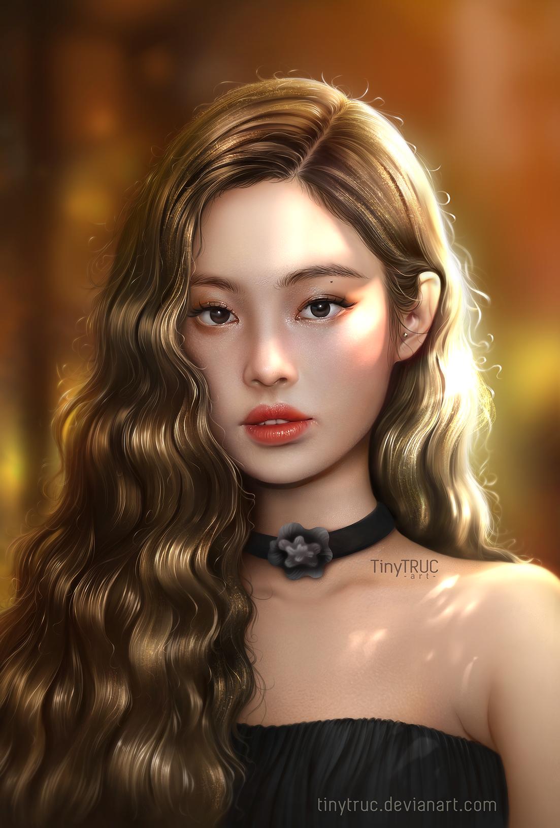 Jennie Blackpink fan art portrait on Behance
